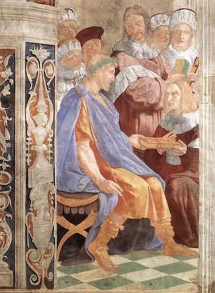 Justinian Receiving the Pandects (civil laws) from Trebonian