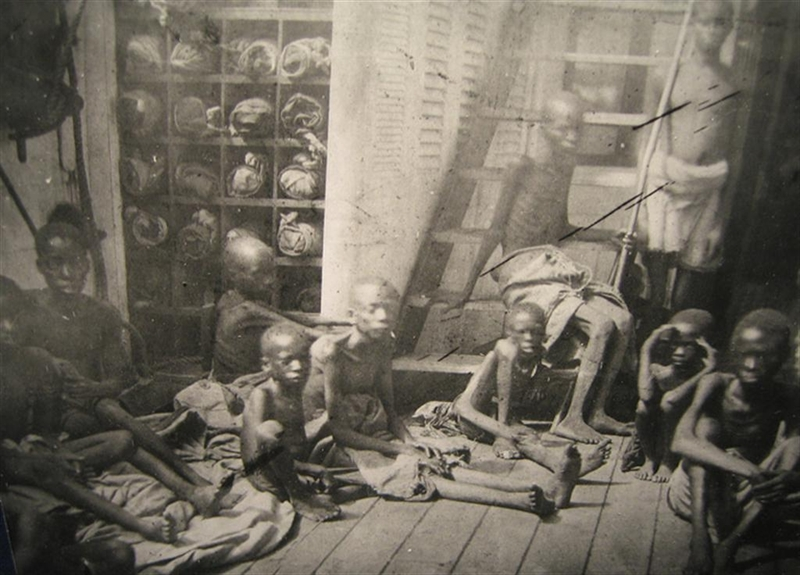 Photograph taken on HMS Daphne, 1868