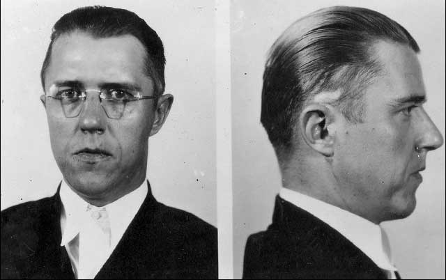 FBI images of Canadian gangster Alvin Karpis