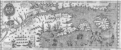 Marc Lescarbot's 1609 map of New France