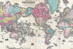 world map 1852