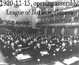 1920 meeting of the League of Nations
