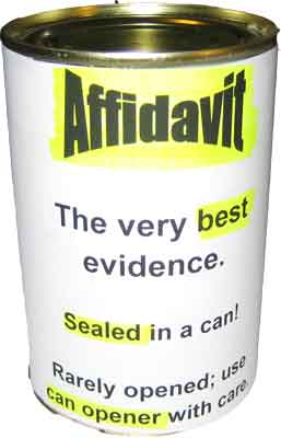 Affidavit in a can