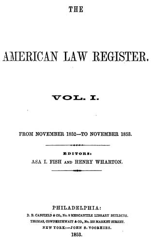 American Law Register