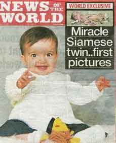 Gracie Attard on cover of the News of the World