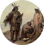 Crow Indian making a point