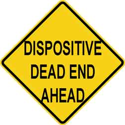 DISPOSITIVE ROAD SIGN