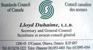 corporate secretary business card