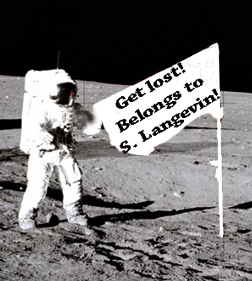 Langevin's flag on the moon