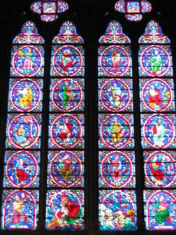 stained glass at Louvre