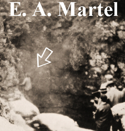 "E.A. Martel at ""work""."