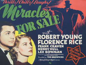 Miracles For Sale movie poster