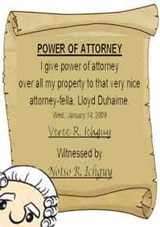 Power Of Attorney Meaning Yahoo