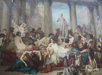 Couture painting Decadence of Rome