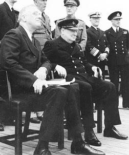 Roosevelt & Churchill at sea circa 1941