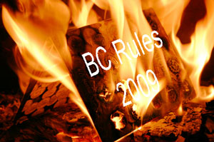 2009 Rules burning