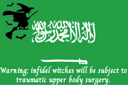 SA flag with witches