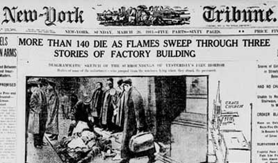 Triangle Shirtwaist Company headline