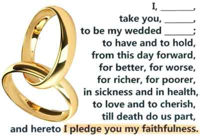 the wedding vow re adultery