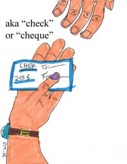 a check or cheque