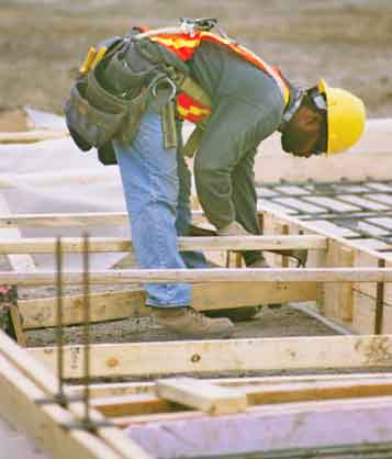 Concrete worker image