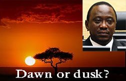 dawn or dusk in Kenya
