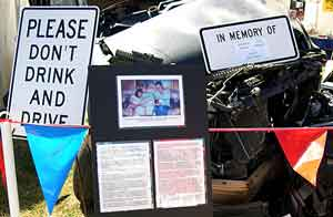 Memorial for drunk driving victim