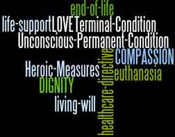 end of life word cloud