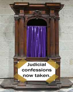 judicial confession booth