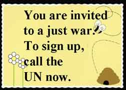 just war greeting sign