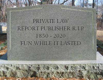 law report tombstone