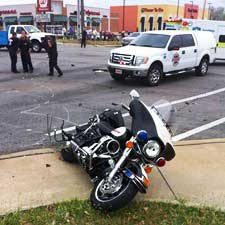 [police motorcycle accident]