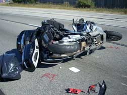 [motorcycle after accident]