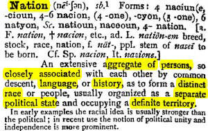 extract from old dictionary