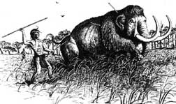 Indian killing mammoth