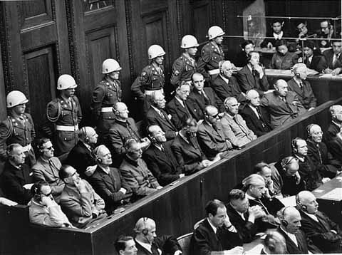 Nuremberg war crime defendants (1946)