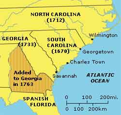 colony of South Carolina circa