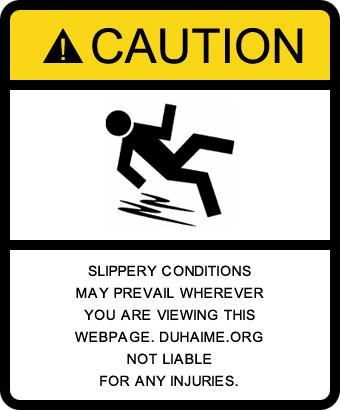 Slip warning