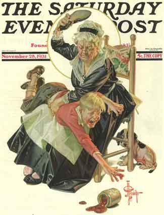 Spanking Saturday Evening Post Nov 1931 cover